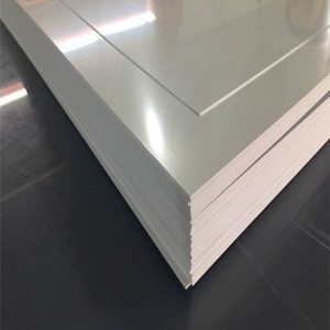 White taas nga gloss PVC Sheet