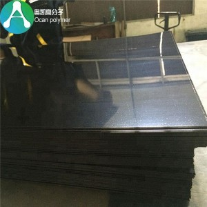 High Gloss Sufrace moldable nyembamba Flexible Black plastiki Sheets PVC Film