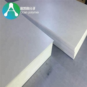 Vacuum forming Thick 3mm White Fireproof Plastic Sheet for Furniture