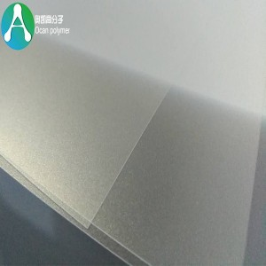 Embossed pvc transparent sheet for offset printing and post board
