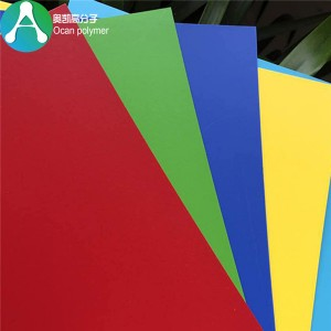 0.5mm Thin Hard Colorful PVC rigid Plastic Sheet foar Decoration