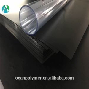 3mm Black embossed rigid vacuum forming PVC plastic board/sheet