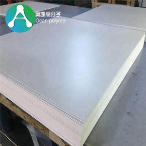 4 × 8 ສີຂາວ Rigid Vinyl Sheets (PVC) Gloss / Matte