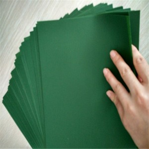 Matte gjelbër PVC Sheet / material film për bar artificial