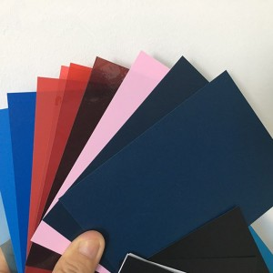 Customized kolor estriktong PVC Sheet 0.2-6mm gibag-on